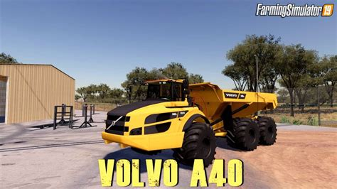 Volvo Articulated Dump Truck by Volvo A40g Articulated Dump Truck Farming Simulator 19