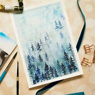 Winter Watercolor Landscapes Tutorials