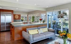 Cuisine ouverte sur sejour salon maison design bahbecom for Maison a l americaine 3 jolie maison avec vue splendide sur locean en californie
