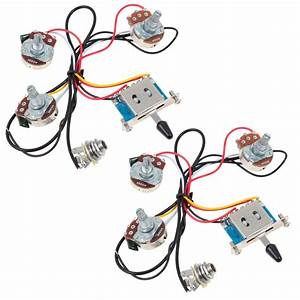 2 Sets Guitar Wiring Harness 5 Way Blade Switch 500k Full