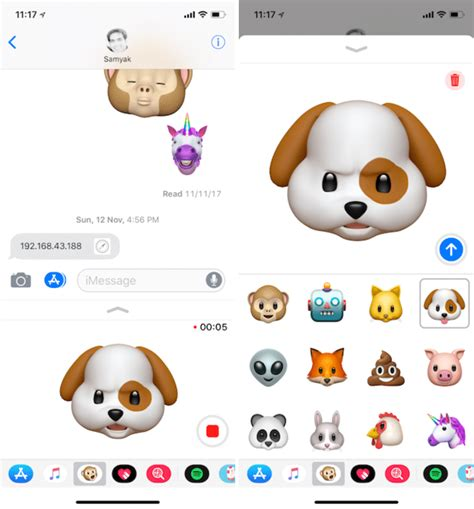 how to send animoji on iphone x