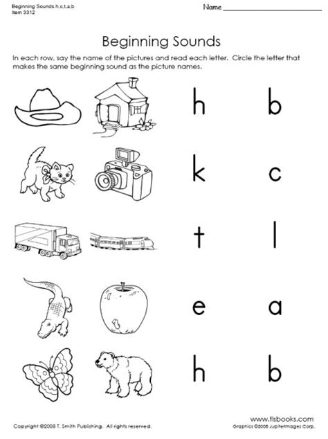 beginning sound worksheets for preschool letter b