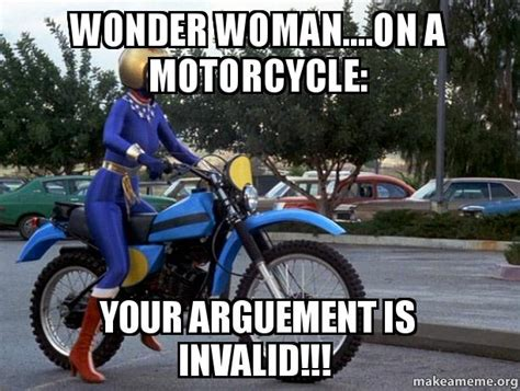 Wonder Woman....on A Motorcycle
