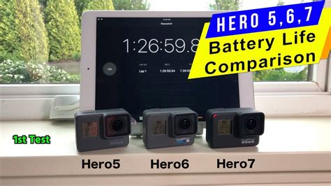 gopro hero hero hero battery life comparison gopro