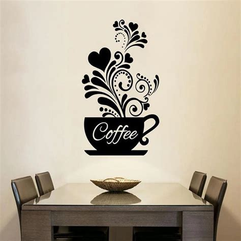 Best 25+ coffee theme kitchen ideas on pinterest | cafe themed kitchen, coffee kitchen decor and coffee area. Coffee Cup Wall Art Mural Removable PVC Wall Decal For Kitchen Coffee Room - NordicWallArt.com