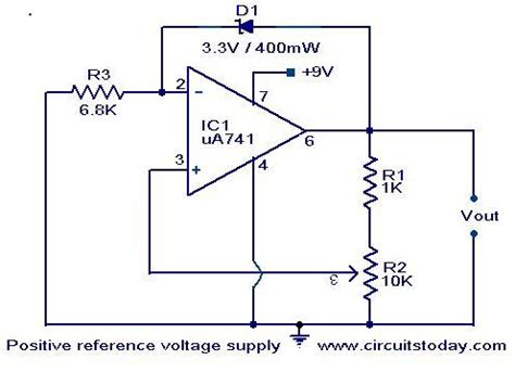 negative reference voltage generator electronic circuits  diagrams electronic projects