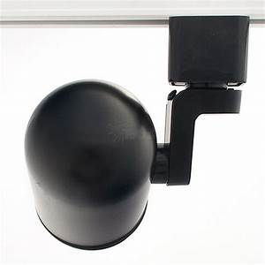 Gu10 Mr16 Black Round Back Black Baffle Track Light