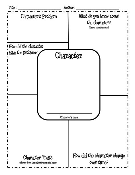 character profile template pdf best 25 character profile template ideas on character personality traits book