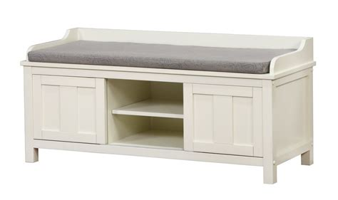 White Wood Storage Bench by Maysville Wood Storage Entryway Bench By Breakwater Bay