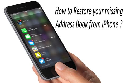 how to restore iphone how to recover deleted address book from iphone