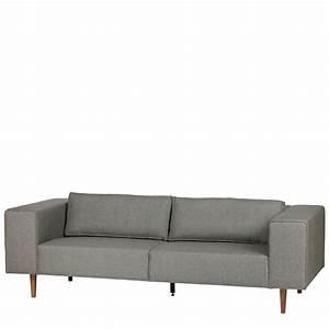 canape 3 places tissu et pieds en bois bjork by drawer With tapis exterieur avec canapé barcelona 3 places