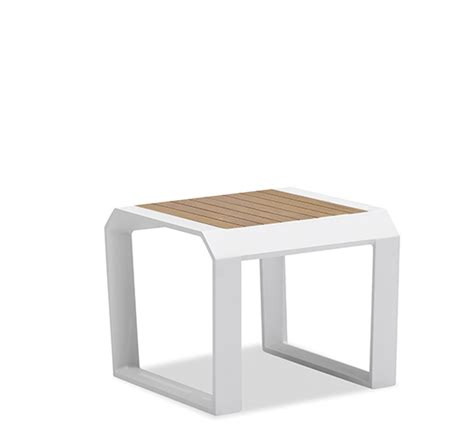table de jardin basse blanche en aluminium fenrez com