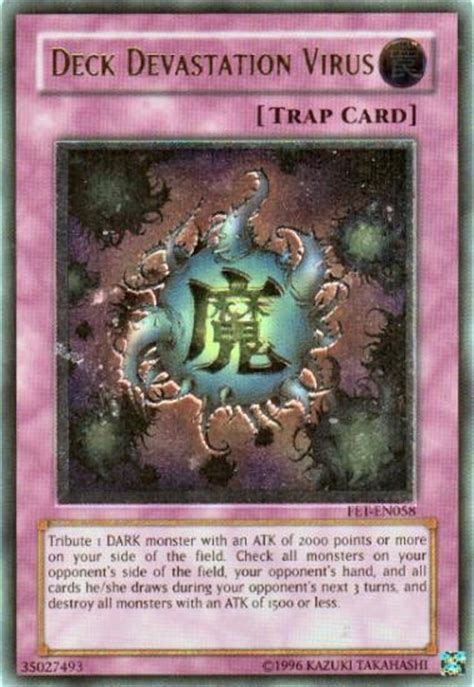 deck devastation virus ultimate yu gi oh flaming eternity single deck devastation virus