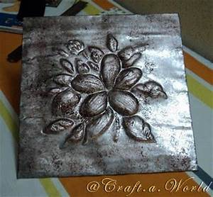 17 best images about diy metallic finishes on pinterest With what kind of paint to use on kitchen cabinets for metal flower wall art hobby lobby