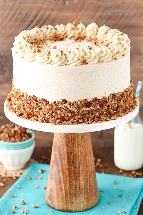 browned butter pecan layer cake life love  sugar