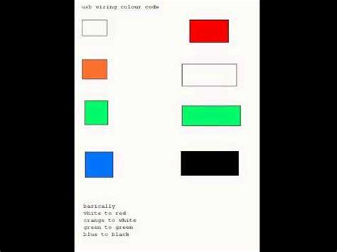 usb color codes wire colors
