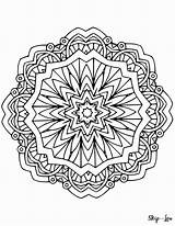 Mandala Coloring Pages Adult Mandalas Colouring Printable Sheets Skiptomylou Books Designs Easy Weed Relax Adults Geometric Lou Skip Allow Mind sketch template