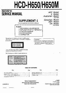 Sony Hcd-h650 Service Manual