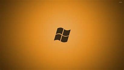 Windows Wallpapers Orange Microsoft Golden Imagens Minimalistic