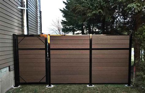 composite fencing ezfence composite board  aluminium structure