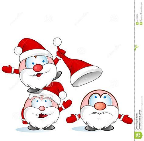 lustige weihnachtsmann bilder lustige weihnachtsmann gruppenkarikatur vektor abbildung illustration vorabend geschenk