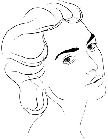 womans face coloring page  printable coloring pages