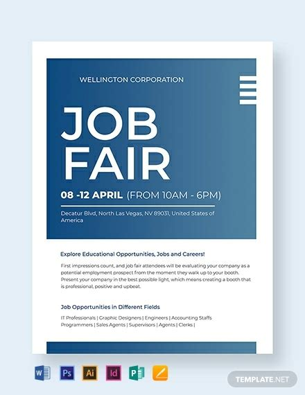 job fair flyer template   flyers  microsoft