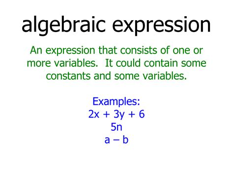 What Is Algebraic Expression Examples