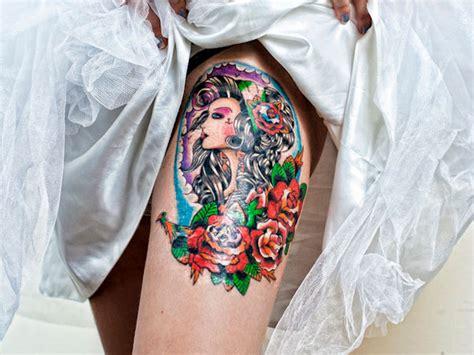 thigh tattoos      attention