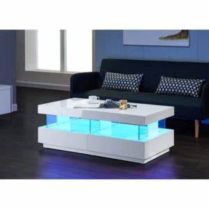 Table Basse Multicolore : light table basse avec clairage led multicolore 120cm blanc brillant pas cher achat vente ~ Teatrodelosmanantiales.com Idées de Décoration