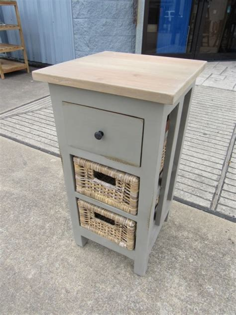 Nightstand With Baskets by Nightstand With Baskets Nadeau Houston
