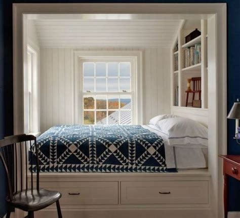 Bedrooms Bookshelves 22 Inspirational Exles For Those Who To Sleep Near Their Books by Intrigued By Alcove Beds Blue And White Home