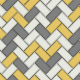 Holden Kitchen/Bathroom Wallpaper   Chevron Tile Yellow