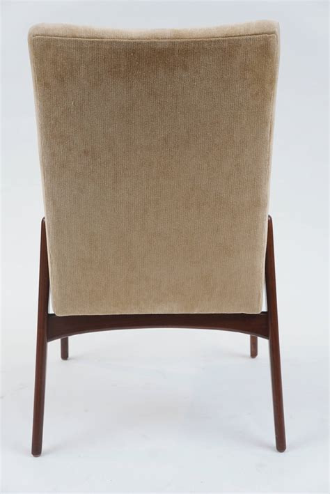 set of 12 mid century modern upholstered dining chairs at