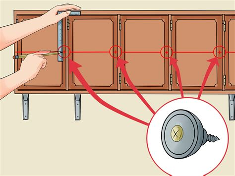 how to hang kitchen cabinet doors how to hang cabinet doors with pictures wikihow 8671