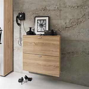 Etagere Tiroir Suspendu : photo meuble chaussures mural ~ Teatrodelosmanantiales.com Idées de Décoration