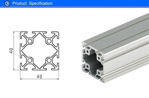 mm  slot aluminum extrusion rails square hollow oem iso ts