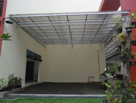 model kanopi minimalis   tiang