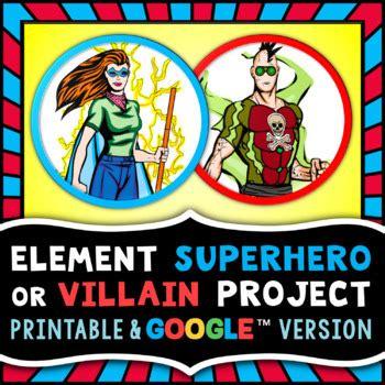 element superhero  villain project periodic table