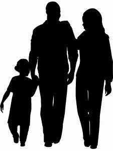 African American Family Silhouette | Free vector silhouettes