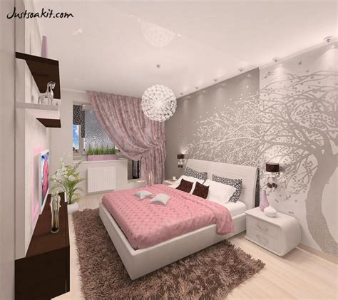 Pink And Gray Bedroom Wallpaper Savaeorg