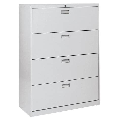 4 Drawer Vertical File Cabinet by Sandusky 600 Series 42 In W 4 Drawer Lateral File Cabinet