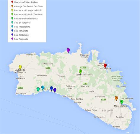 chambre hote ile une semaine sur l 39 île de minorque dans les baléares