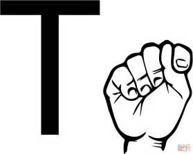 Sign Language Letter Coloring Pages