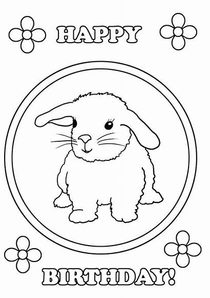 Coloring Birthday Happy Pages Aunt Bunny Printable