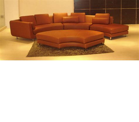 brown sectional with ottoman dreamfurniture com divani casa a94 contemporary brown