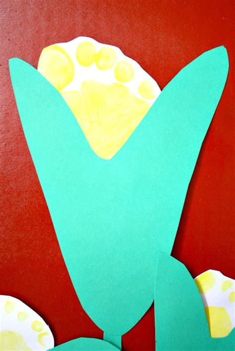 c is for corn and activities 620 | Corn Footprint Craft