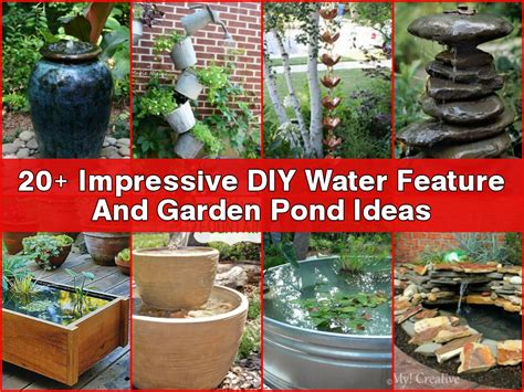 water feature diy ideas 20 impressive diy water feature and garden pond ideas