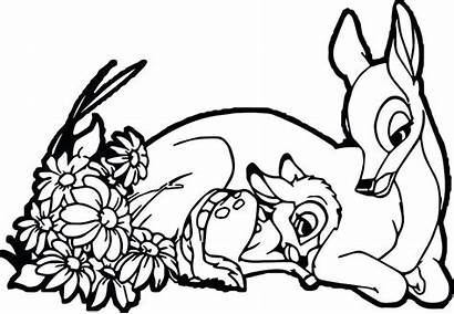Coloring Pages Bambi Mother Deer Mom Drawing