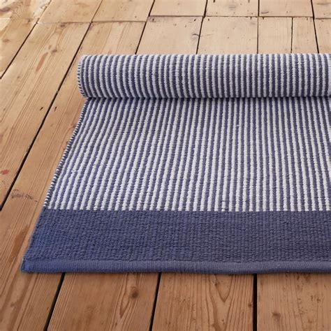 astrid striped blue  white floor runner skandihome